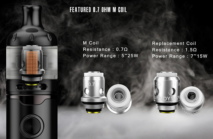 Vandy Vape Berserker S AIO Kit Featured 0.7ohm M Coil
