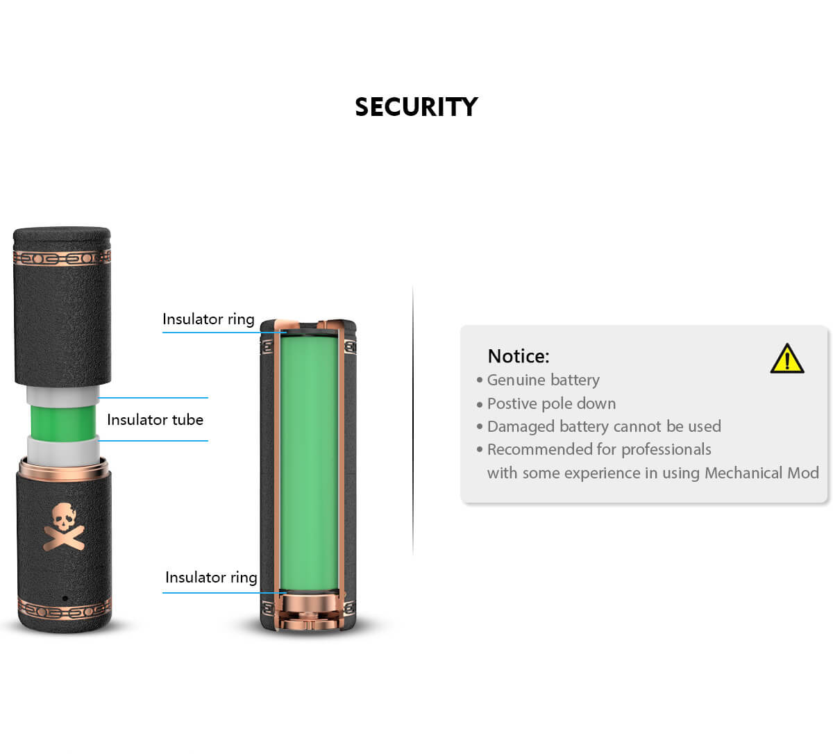Vandy Vape Bonza Mechanical Mod Kit Notice