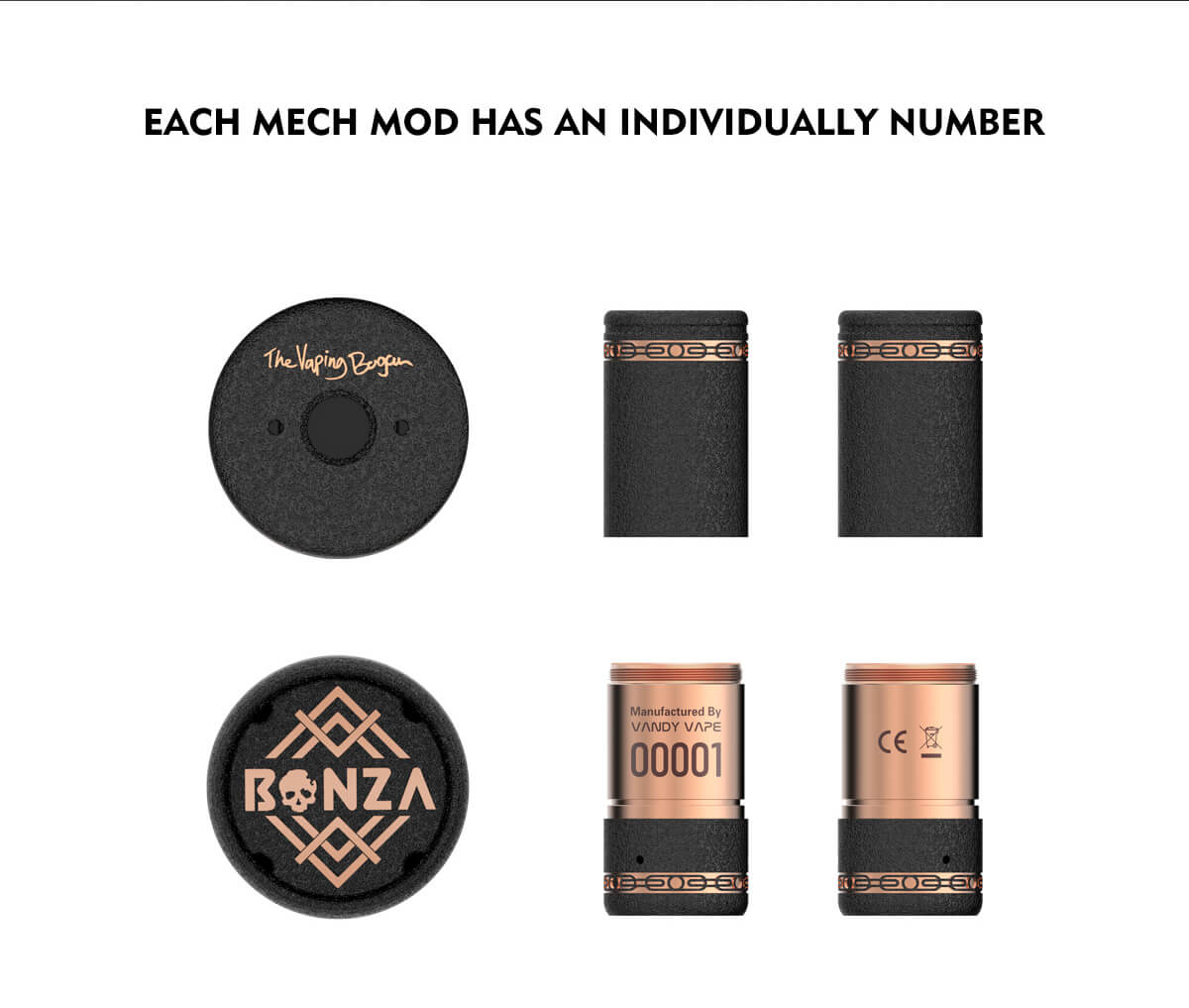 Each Mech Mod Has An individually Number