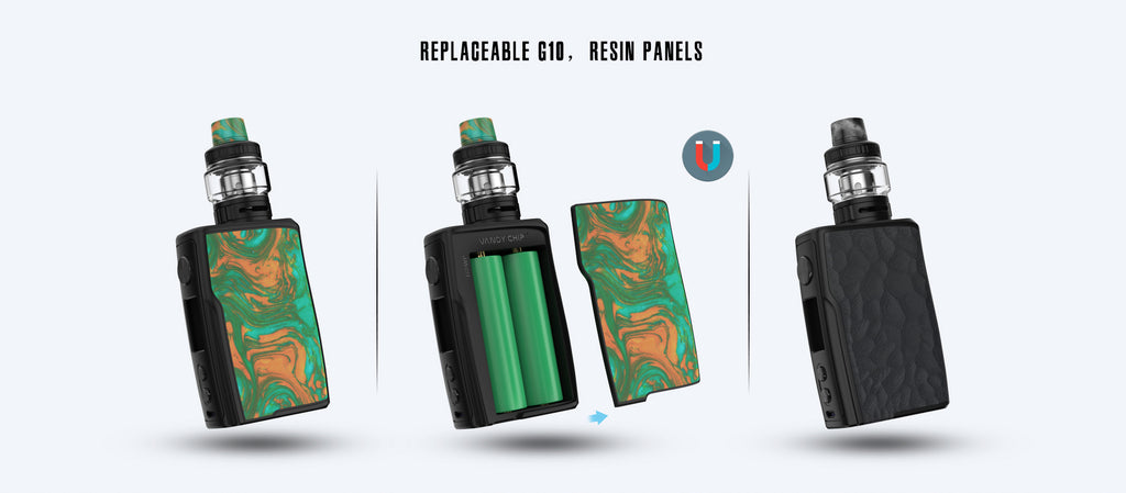 Vandy Vape Swell TC Box Mod Kit Replaceable G10, Resin Panels
