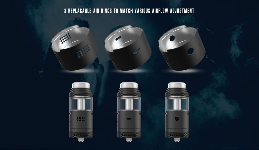 Vandy Vape Widowmaker RTA with Dual Airflow System 6ml 25mm 3 Replaceable Air Rings