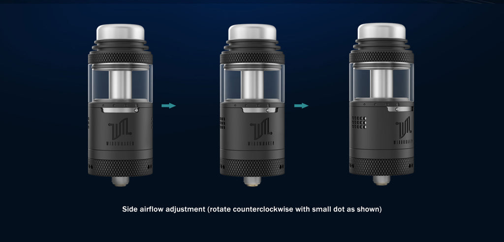 Vandy Vape Widowmaker RTA with Dual Airflow System 6ml 25mm Side Airflow Adjustment