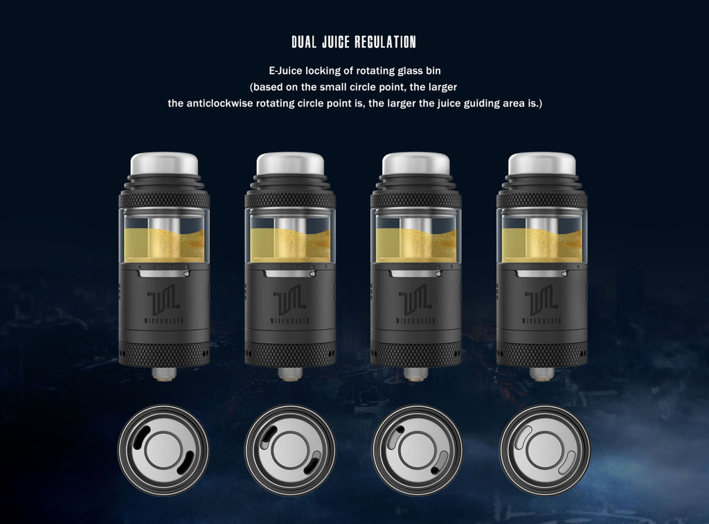 Vandy Vape Widowmaker RTA with Dual Airflow System 6ml 25mm Dual Juice Regulation