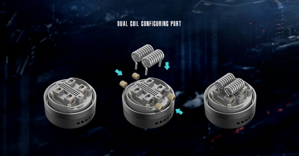 Vandy Vape Widowmaker RTA with Dual Airflow System 6ml 25mm Dual Coil Configuring Port
