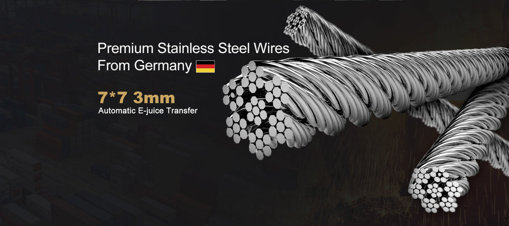 Vapefly Brunhilde MTL RTA Premium Stainless Steel Wires Form Germany