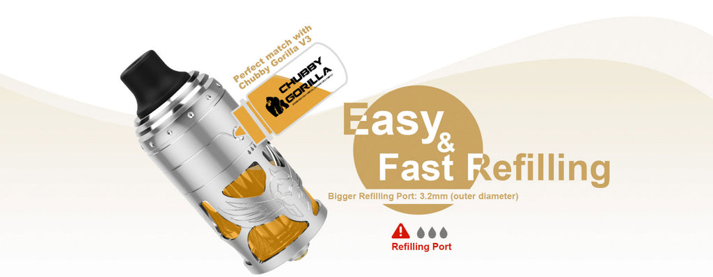 Vapefly Brunhilde MTL RTA 5ml 23mm Refilling Easy And Fast