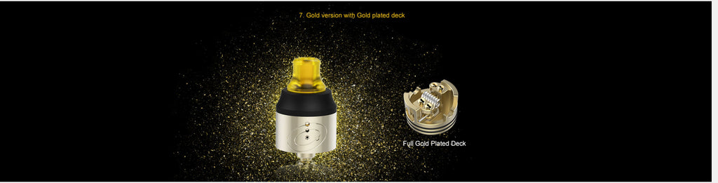 Vapefly Galaxies MTL RDA 22mm Gold Version With Gold Plated Deck
