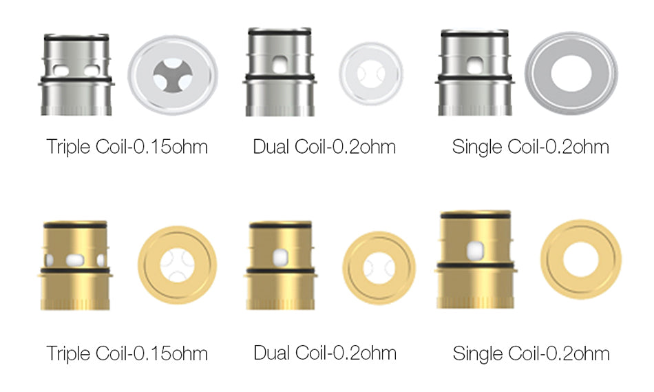 Vapefly Kriemhild Replacement Single / Dual / Triple Coil Head 3PCs