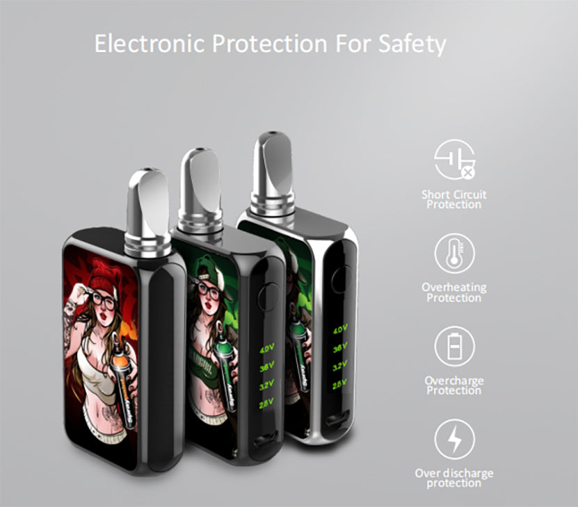 Vapmod Dragoo VV Box Mod 650mAh Resin Edition Electroopuii Protection For Safety