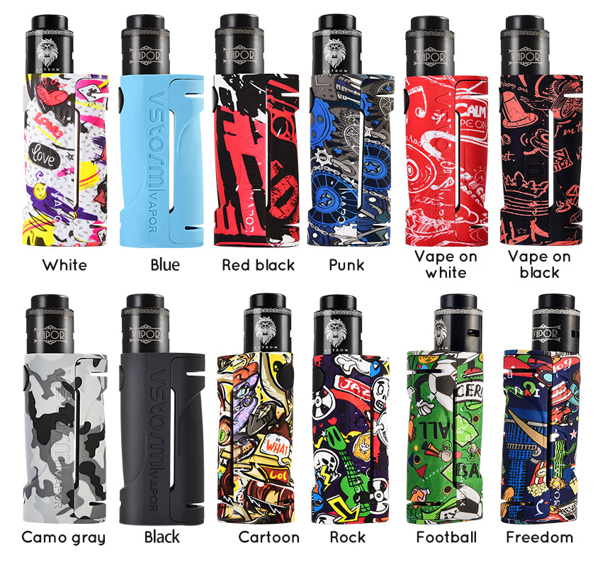 Vapor Storm ECO VV Mod Kit with Lion RDA 2ml 90W 12 Colors Available