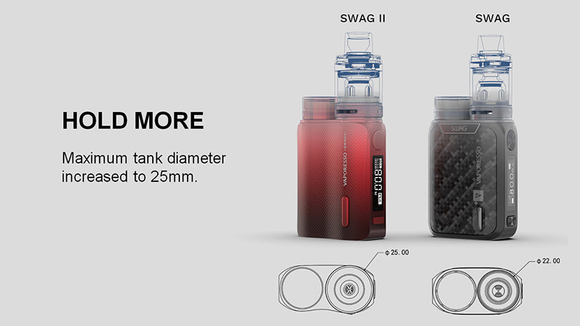 Vaporesso Swag j VW Box Mod Kit Parameter with NRG PE Tank 80W 3.5ml
