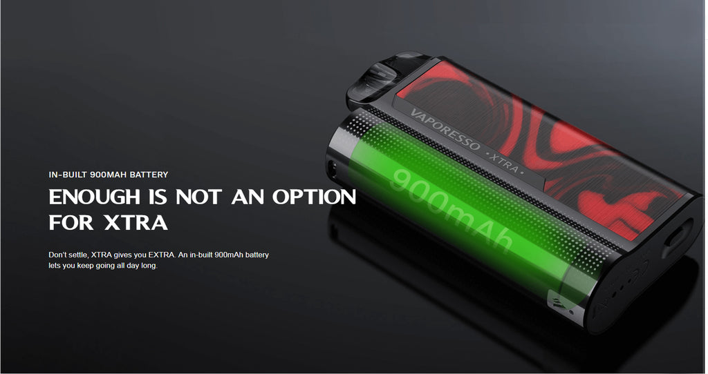 Vaporesso XTRA AIO Pod Kit 900mAh Battery