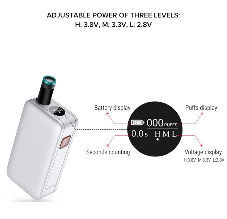 Veeape Keybox Pod System VV Starter Kit 650mAh 1ml Adjustable Power Levels