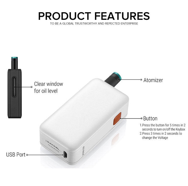 Veeape Keybox Pod System VV Starter Kit 650mAh 1ml Features