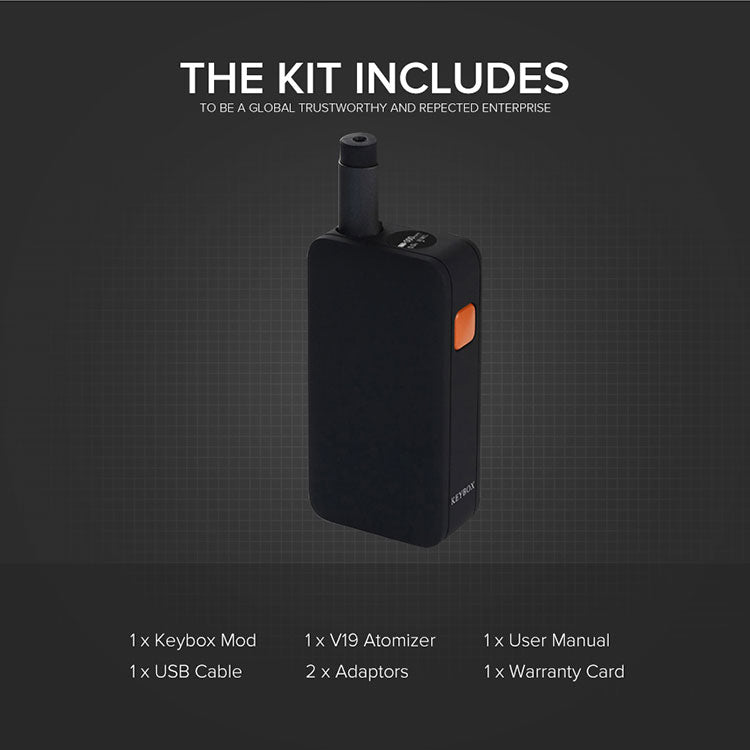 Veeape Keybox Pod System VV Starter Kit 650mAh 1ml Includes
