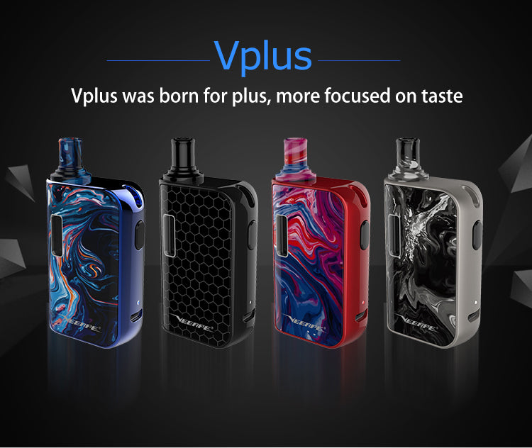 Veeape Vplus Pod System Starter Kit 650mAh 1.2ml 4 Colors Optional