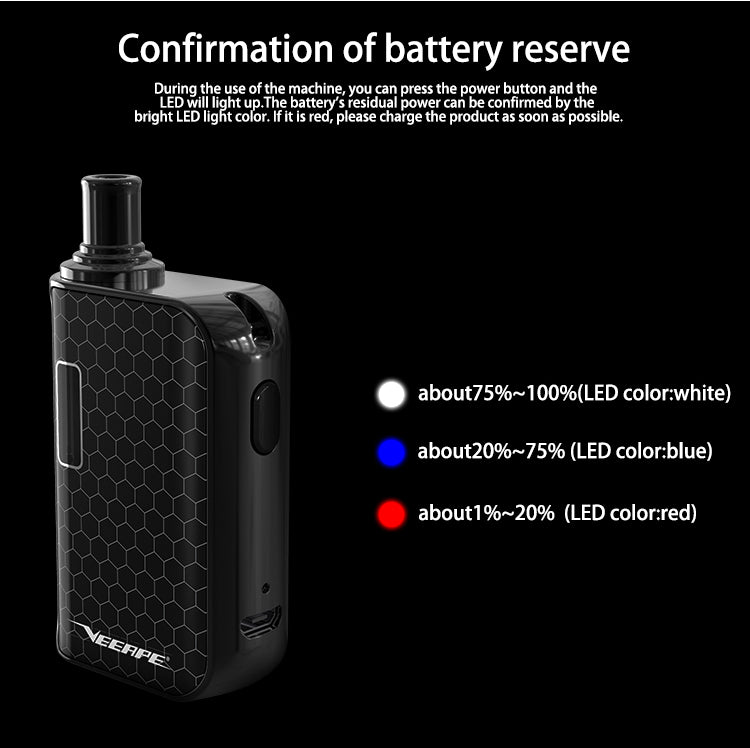 Veeape Vplus Pod System Starter Kit 650mAh 1.2ml LED Indicator
