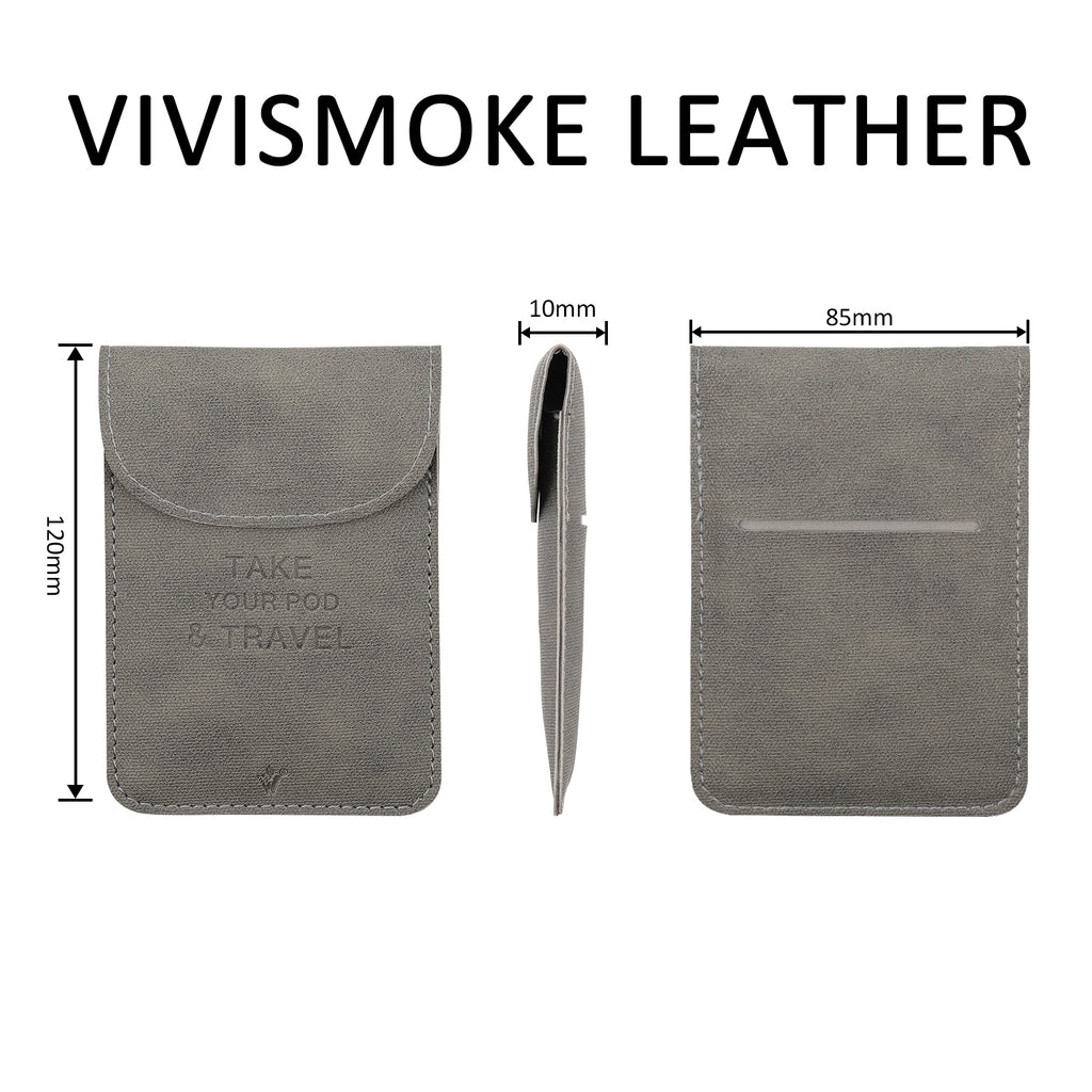 Vivismoke Leather Pocket Case Leather Size