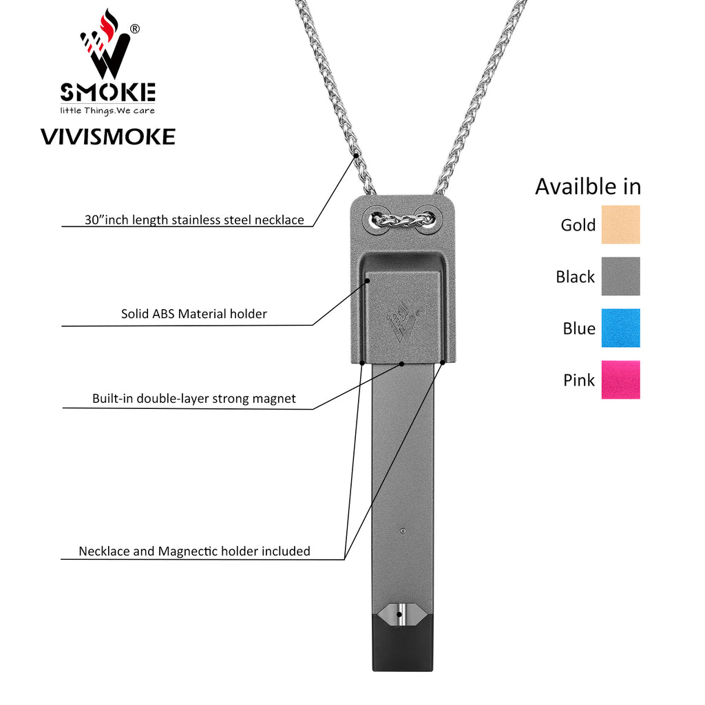 Vivismoke Magnetic Juclip Necklace Compatible with JUUL Kit View & Colors Optional