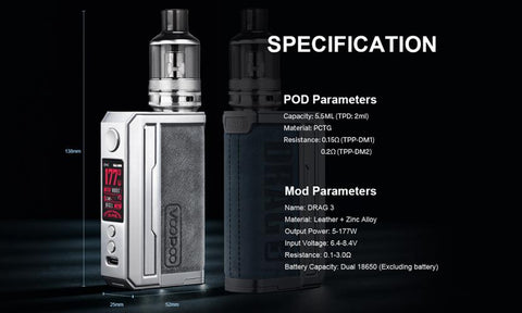 Voopoo Drag 3 Kit Preview