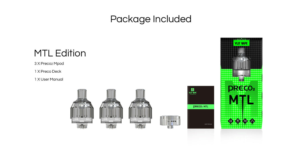 Vzone Preco 2 Solo MTL Tank Package Included