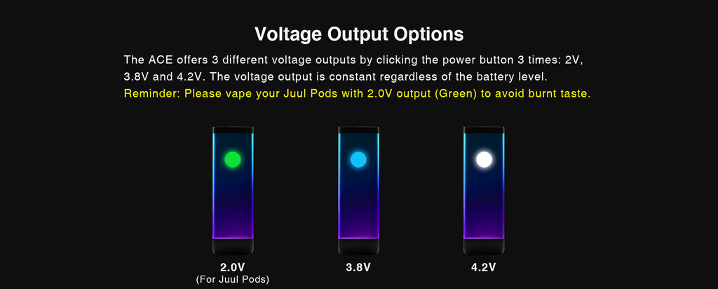 WELLON ACE 2-in-1 VV Box Mod 400mAh Compatible Voltage Output Options