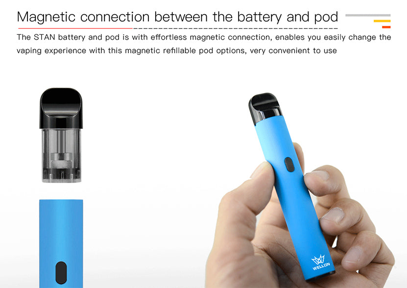 WELLON STAN Starter Kit Magnetic Connection Between The Battery And Pod