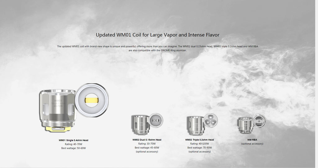 Gnome King Atomizer Updated WM01 Coil