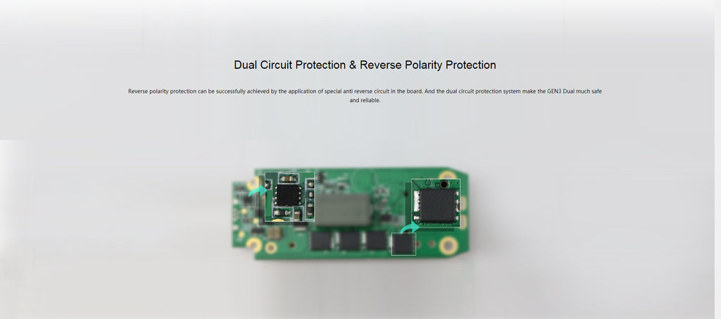Dual Circuit Protection & Reverse Polarity Protection