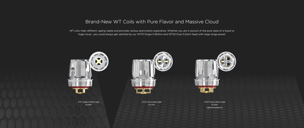 WISMEC Trough Tank - Brand-New WT Coild With Pure Flavor And Massive Cloud