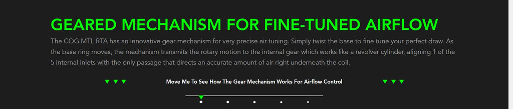 Geared Mechanism For Fine-Tuned Airflow