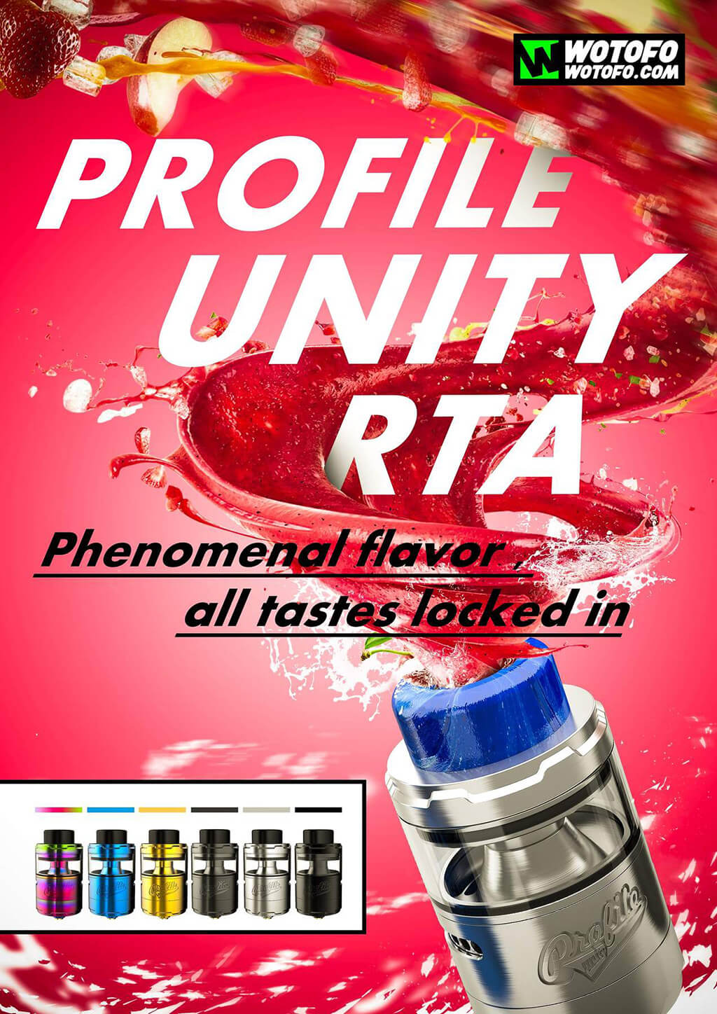 WOTOFO Profile Unity Mesh RTA 5ml 6 Colors Available