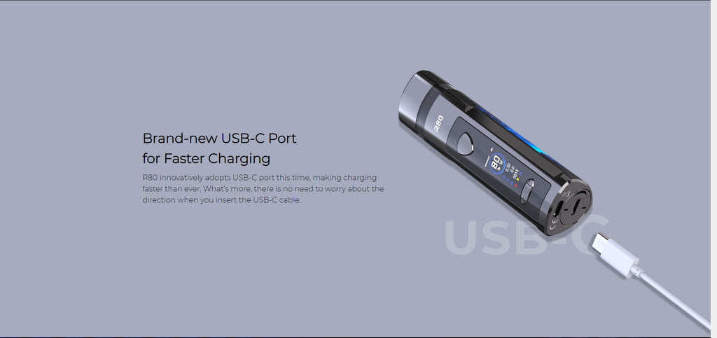 Brand-new USB-C Port For Faster Charging