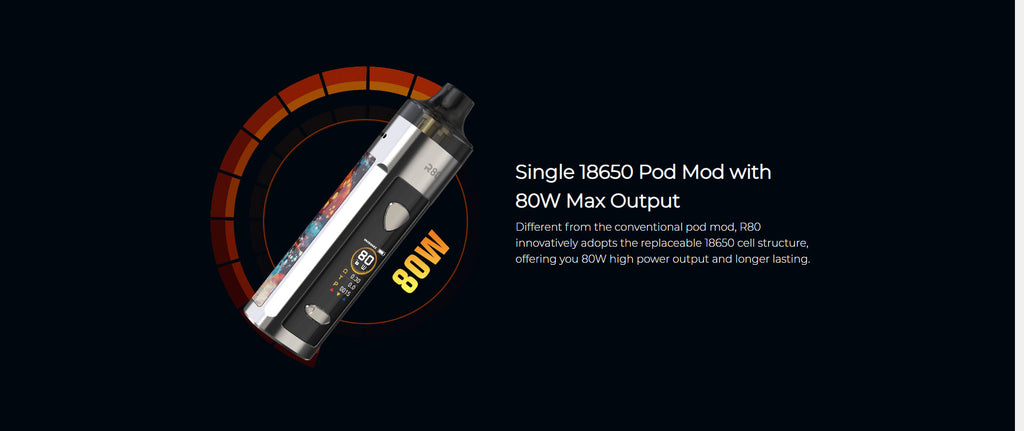 Single 18650 Pod Mod With 80W Max Output