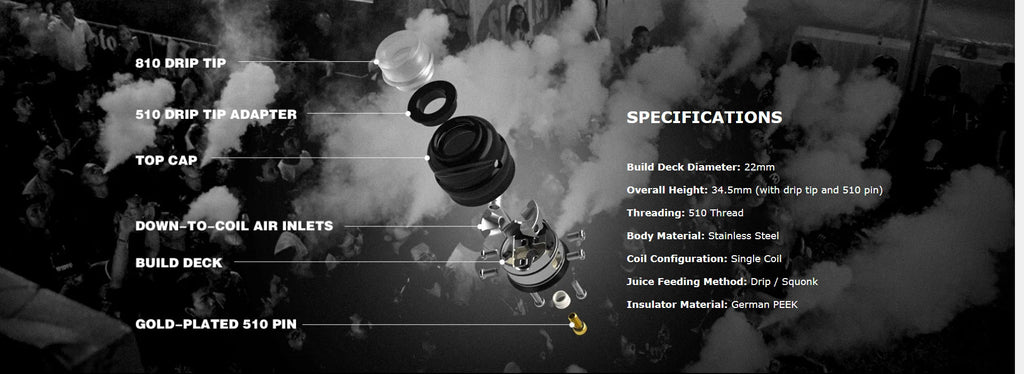 Wotofo Elder Dragon RDA Specifications