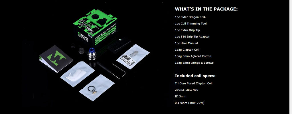 Wotofo Elder Dragon RDA Package Includes