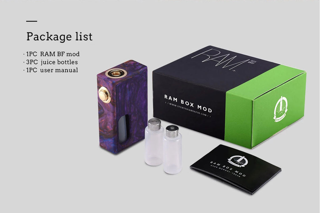 Wotofo RAM Squonk Mod Package List