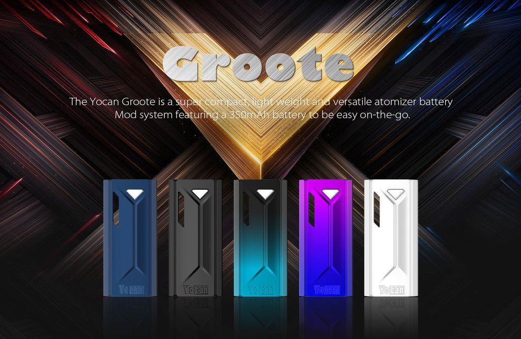 Yocan Groote VV Box Mod 350mAh 5 Colors Available