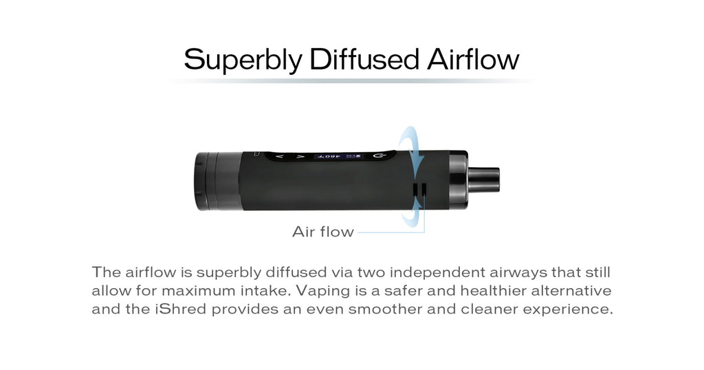 Yocan Ishred Dry Herb Vaporizer Superbly Diffused Airflow