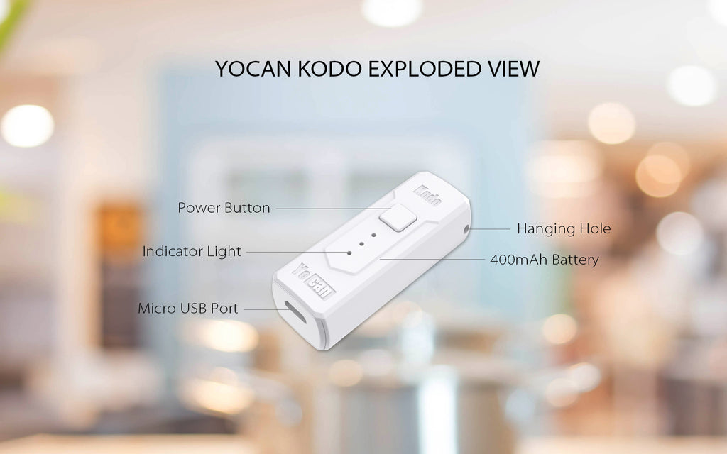 Yocan Kodo VV Box Mod 400mAh Exploded View