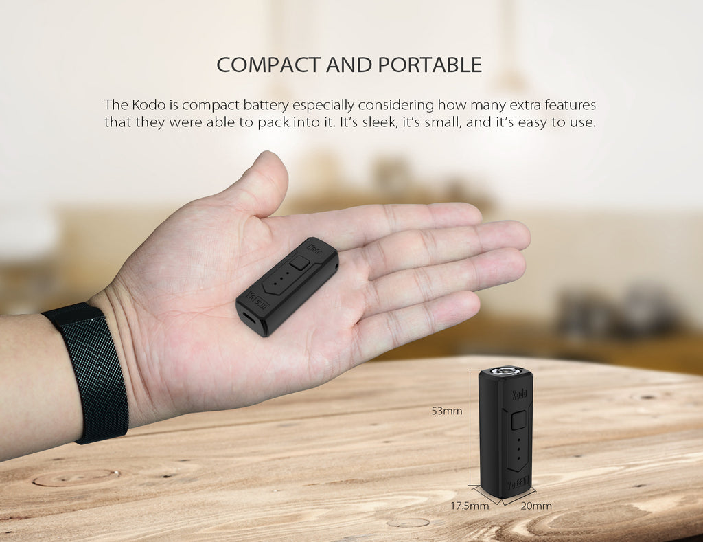 Yocan Kodo VV Box Mod 400mAh Compact And Portable
