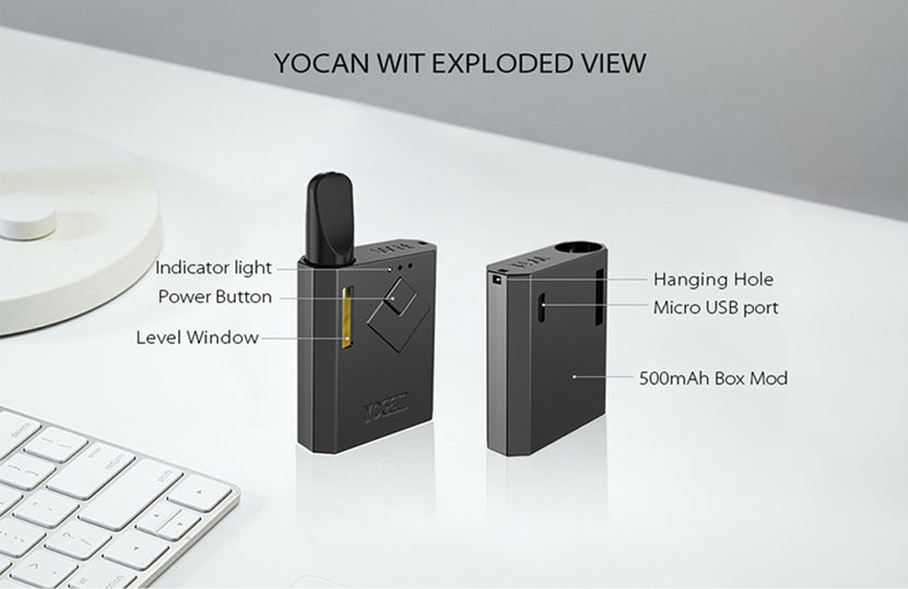 Yocan Wit VV Box Mod 500mAh Exploded View