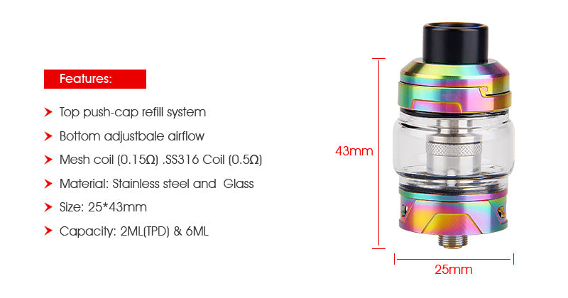 Yosta IGVI M2 Tank 6ml Features
