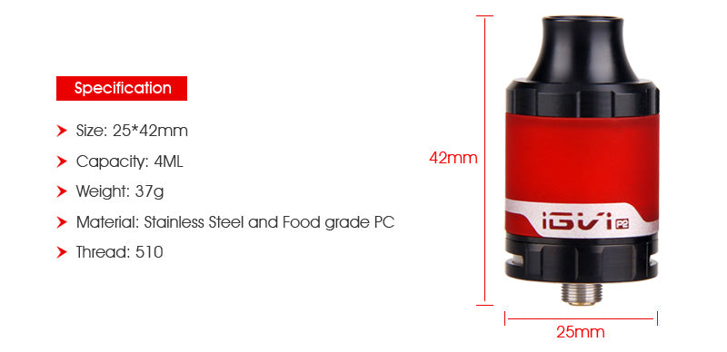 Yosta IGVI P2 Tank 4ml Specification