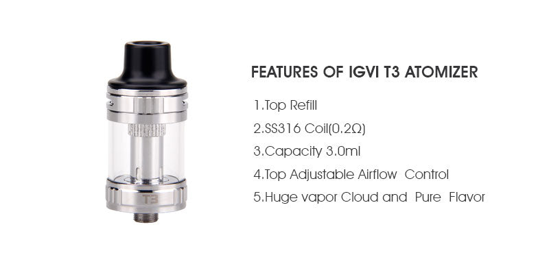 Yosta Livepor SE VW Mod Kit Features Of IGVI T3 Atomizer