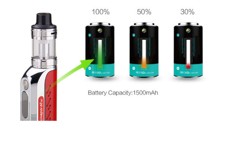 Yosta Livepor SE VW Mod Kit 1500mAh Battery Capacity