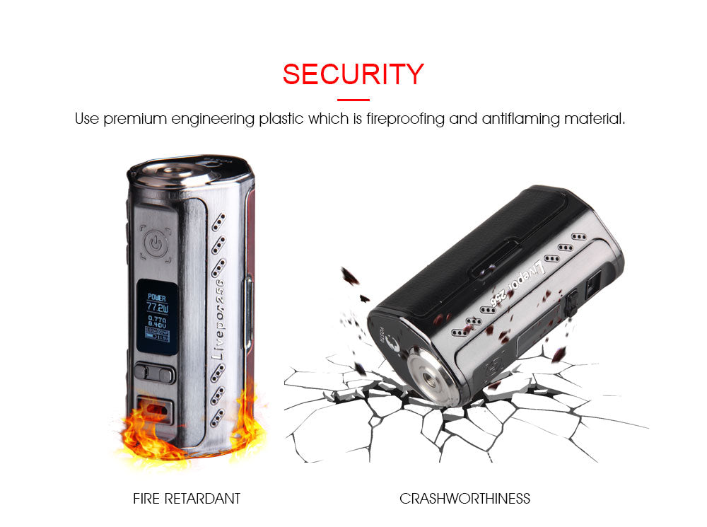Yosta Livepor TC Box Mod 256W Security