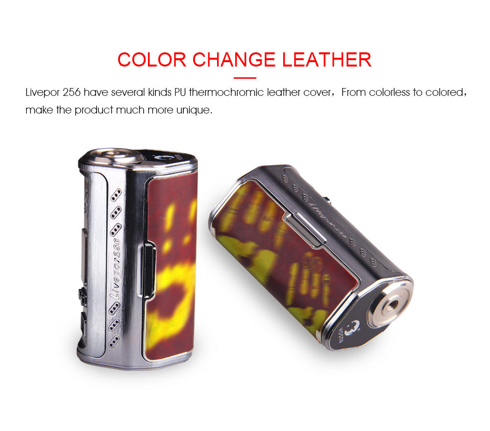 Yosta Livepor TC Box Mod 256W Color Change Leather