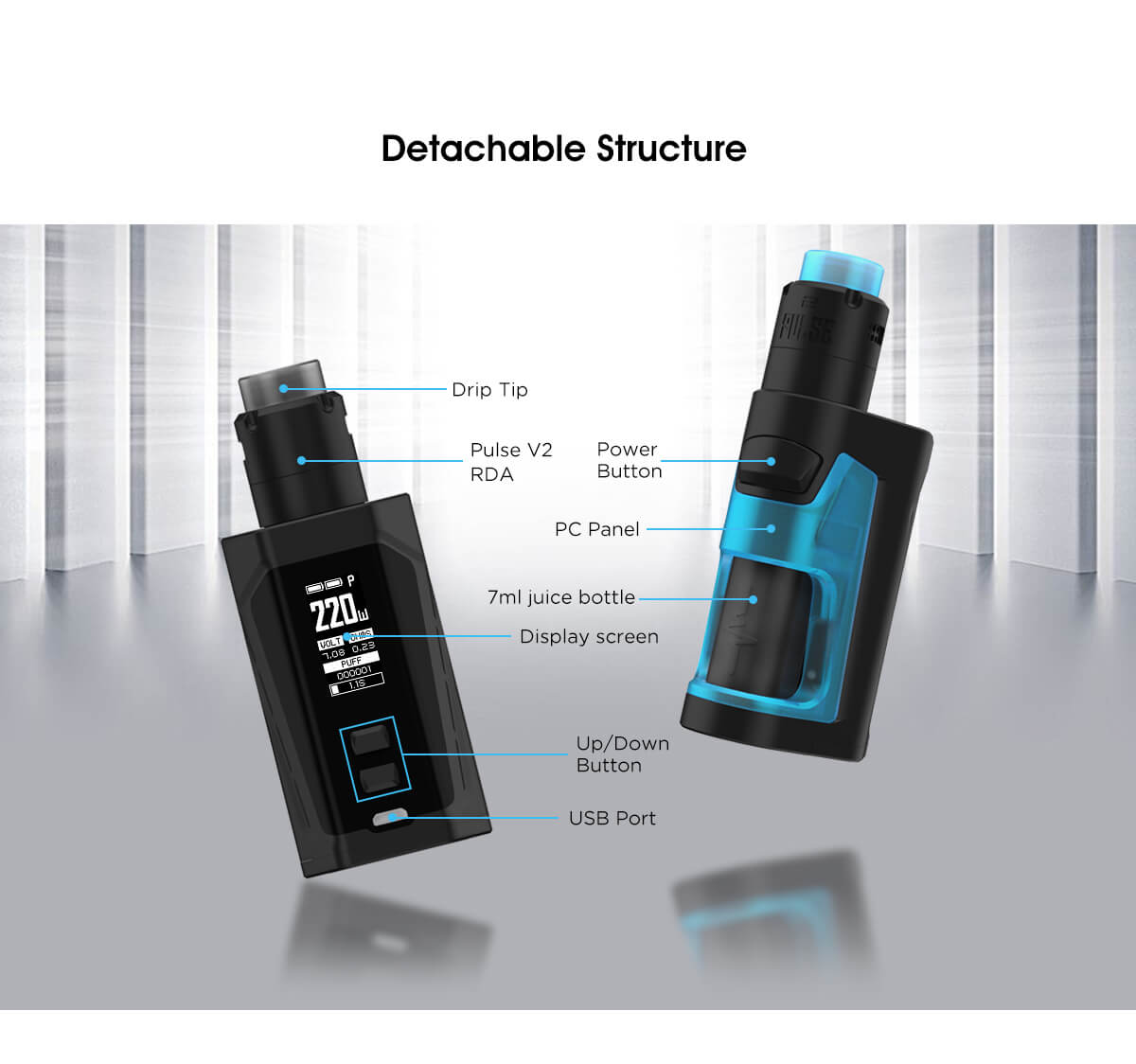 Vandy Vape Pulse Dual Kit Detachable Structure