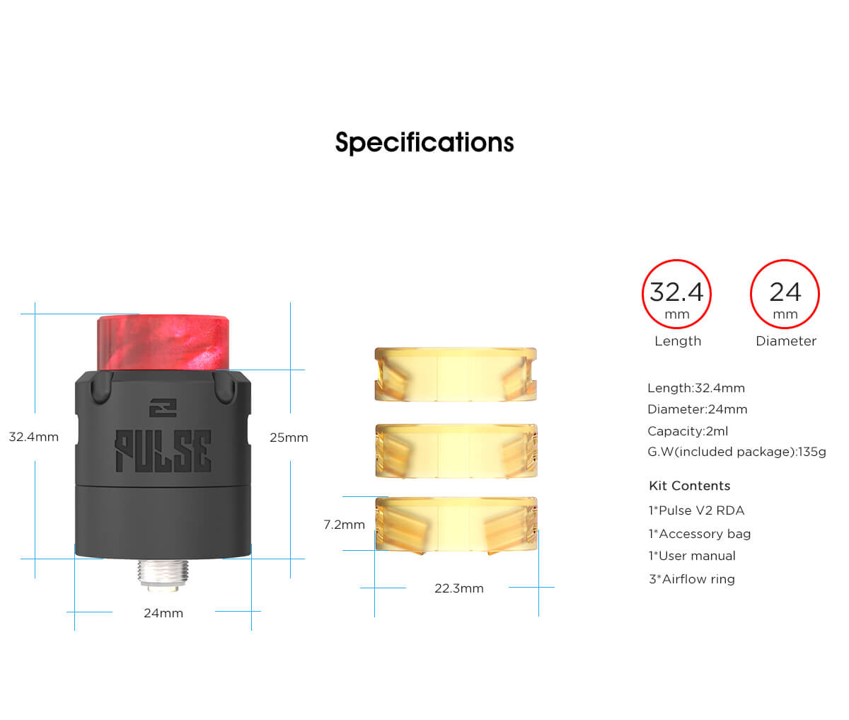 Vandy Vape Pulse V2 RDA Specifications